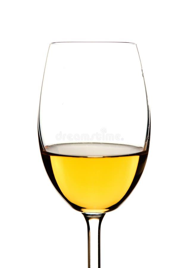 玻璃白葡萄酒 库存图片