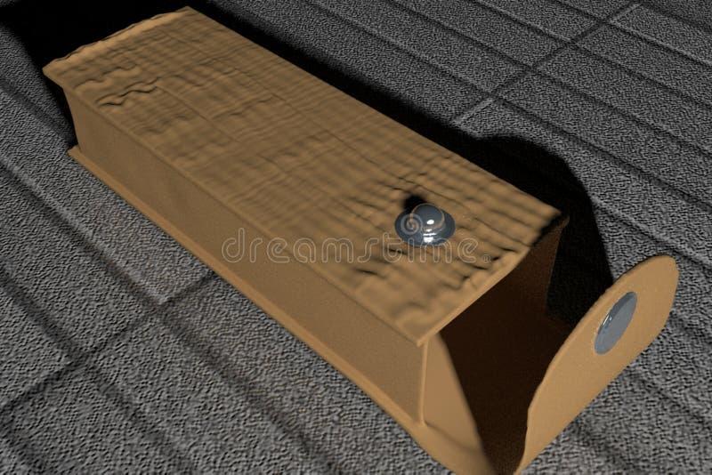 玻璃的盒 免版税库存图片