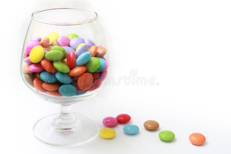 玻璃的糖果 库存图片