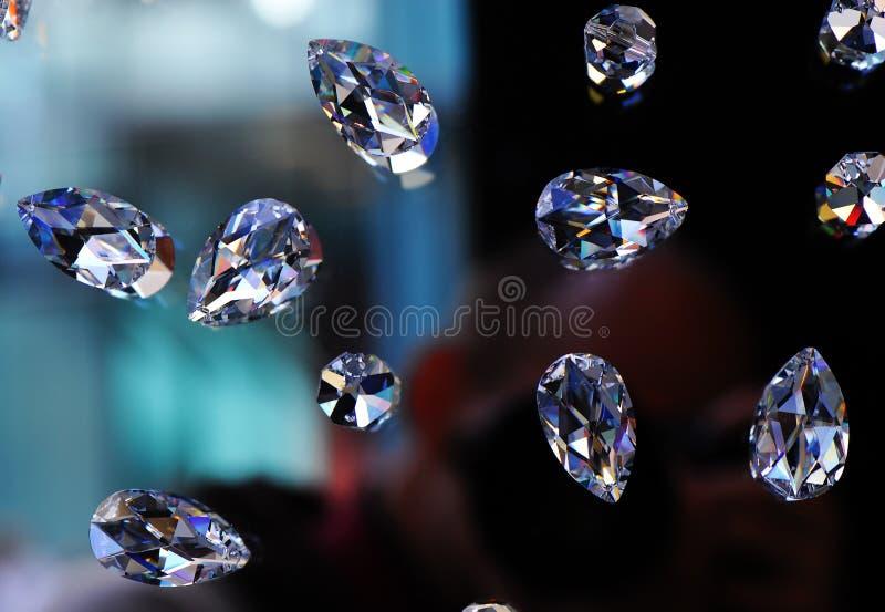 玻璃的金刚石 免版税库存图片