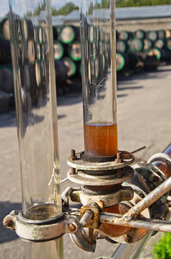 玻璃管用酒 库存图片