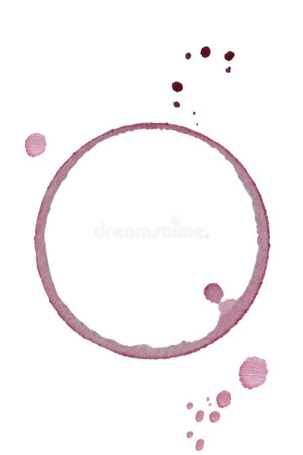 玻璃红色环形酒 免版税库存照片