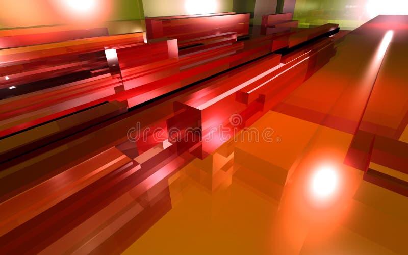 玻璃红色 向量例证