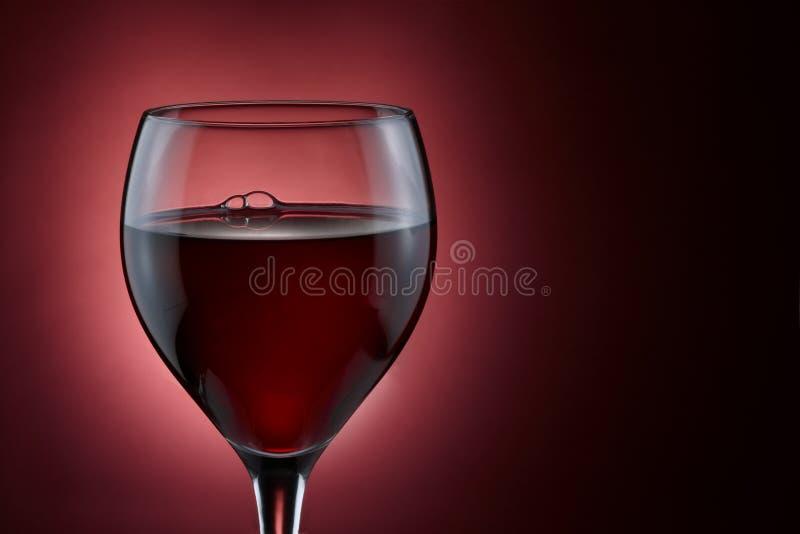 玻璃红葡萄酒 库存照片