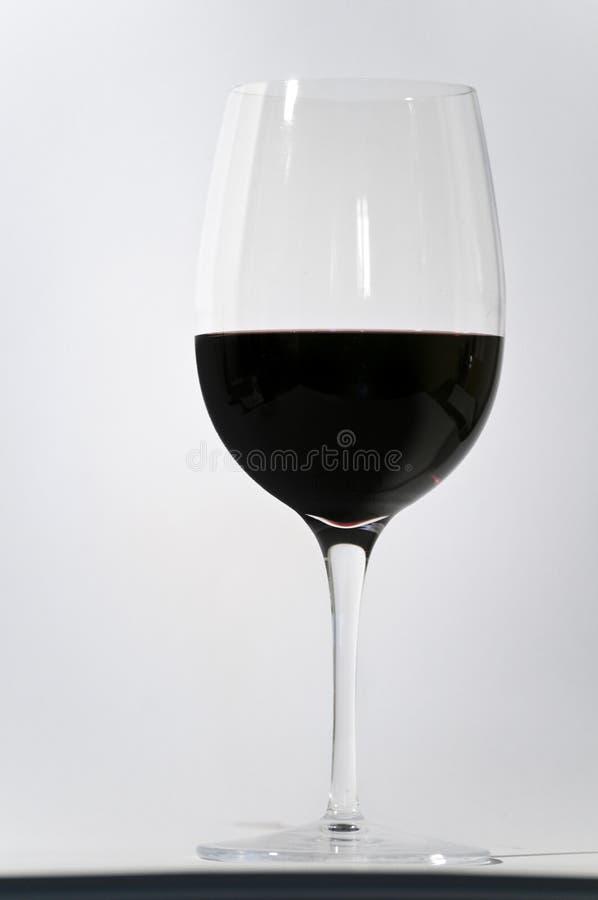 玻璃红葡萄酒 免版税库存图片