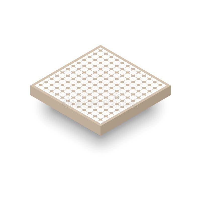 玻璃纤维空气过滤器象 库存例证