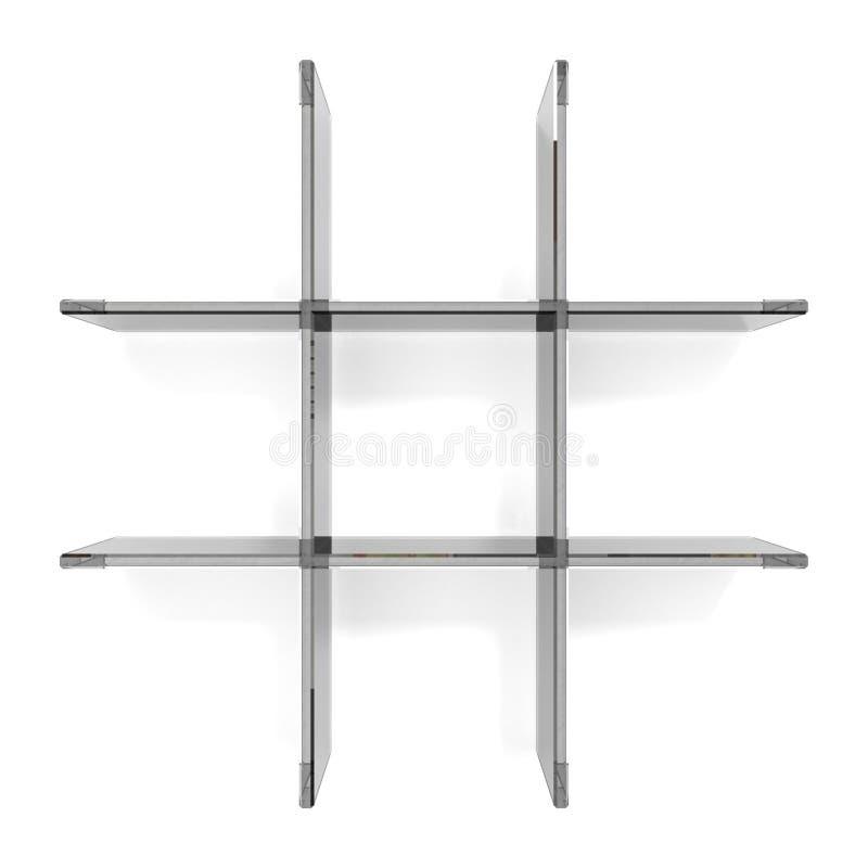 玻璃网格shelfs 皇族释放例证