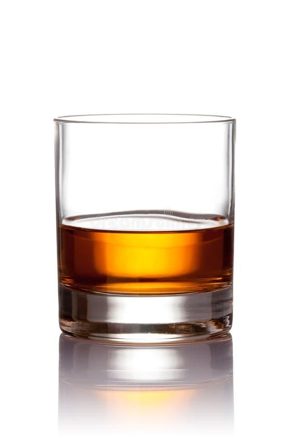 玻璃苏格兰威士忌酒 免版税库存图片