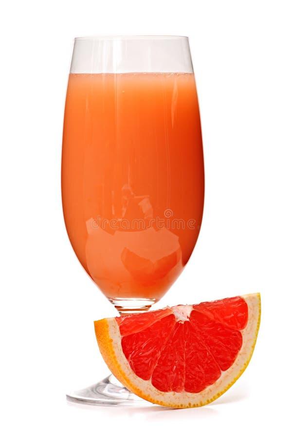 玻璃葡萄柚汁 免版税库存图片