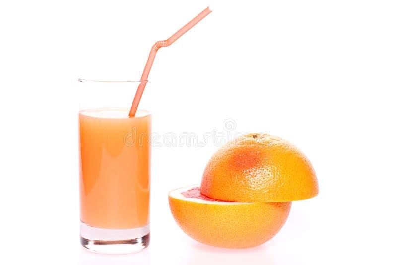 玻璃葡萄柚汁 免版税图库摄影