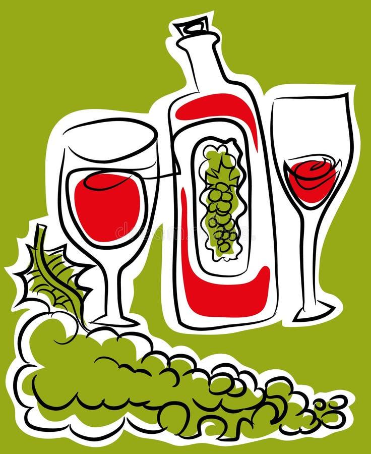 玻璃葡萄酒 库存例证