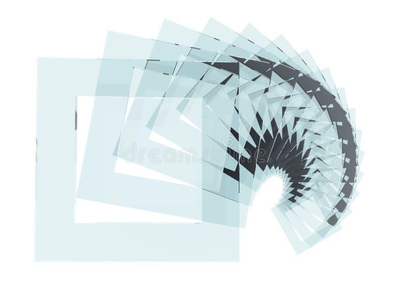 玻璃螺旋正方形 图库摄影