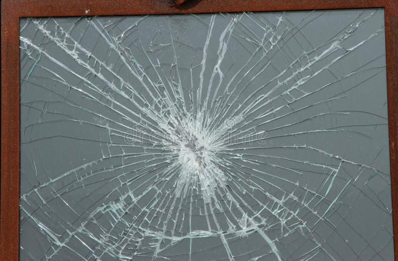 玻璃被打碎的视窗 库存照片