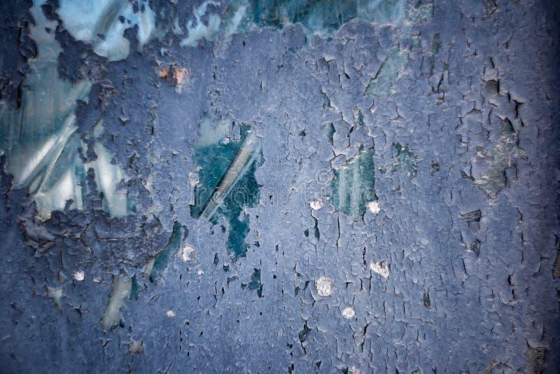 玻璃被绘的蓝色抽象背景  免版税库存图片
