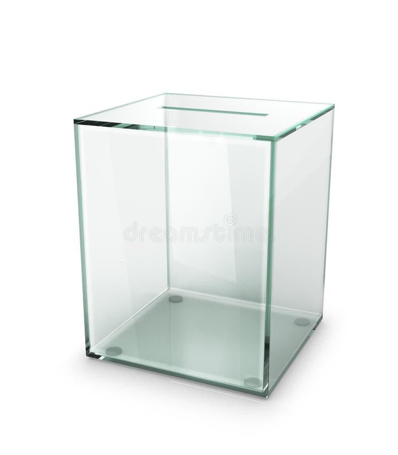 玻璃透明投票箱 库存图片