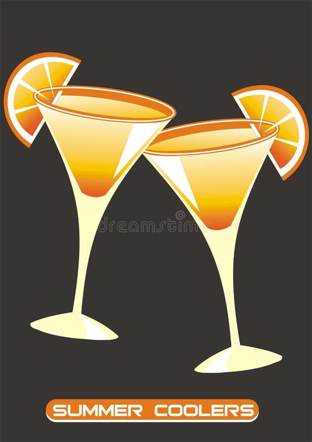 玻璃酒 向量例证