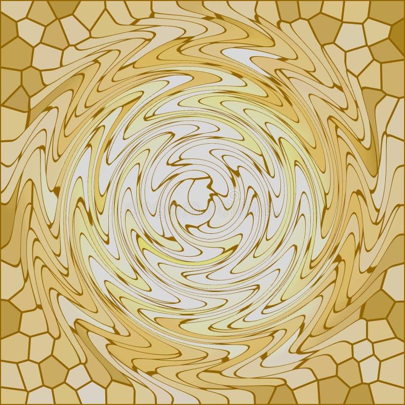 玻璃金黄转动 向量例证