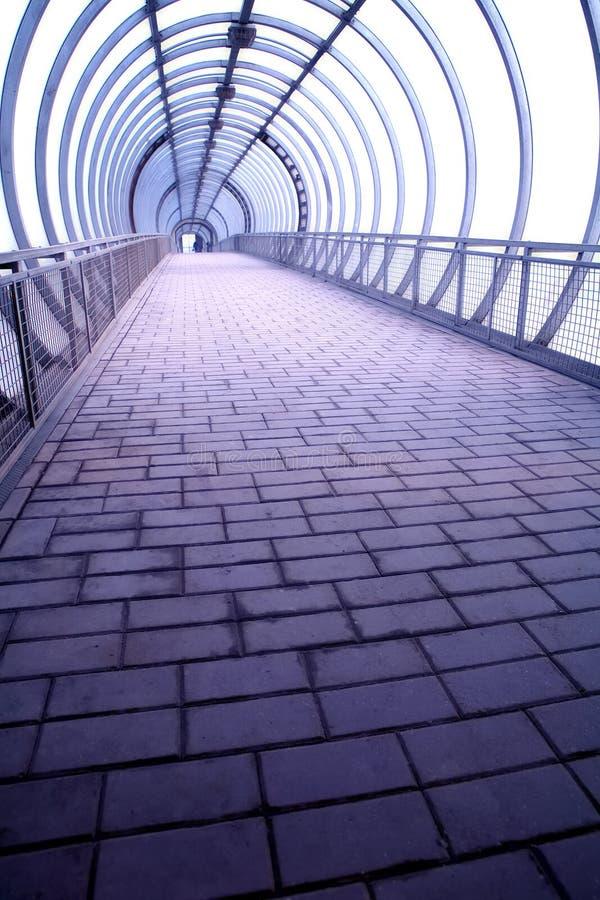 玻璃隧道 库存图片