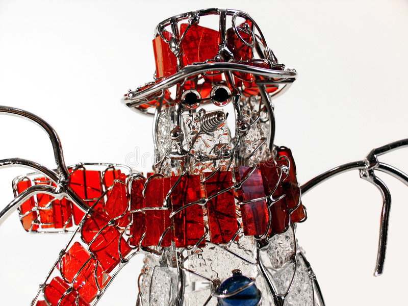 玻璃雪人 免版税库存图片
