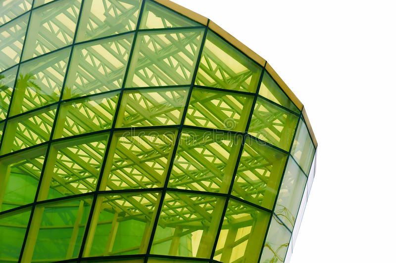 玻璃面板struture黄色 免版税库存照片