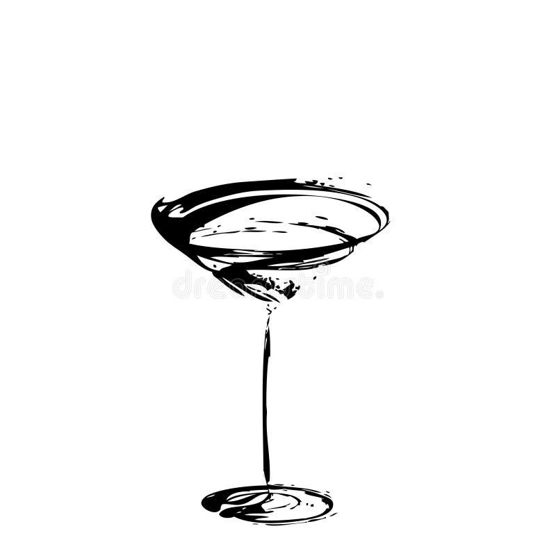 玻璃风格化酒 向量例证