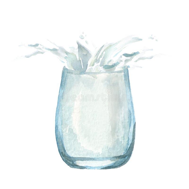 玻璃飞溅水 向量例证