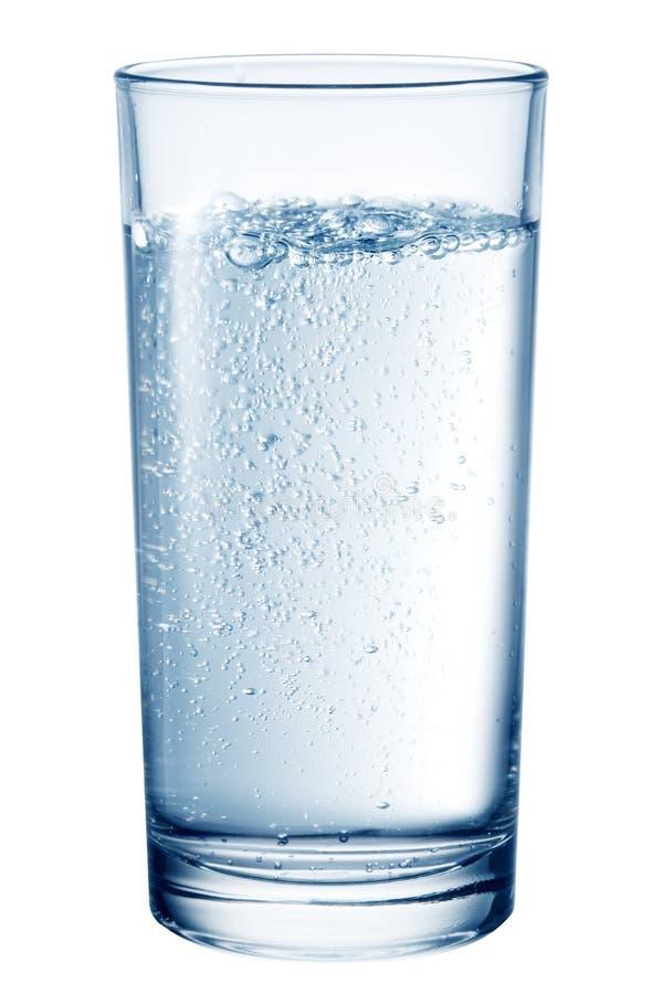 玻璃食用矿泉水 免版税库存照片