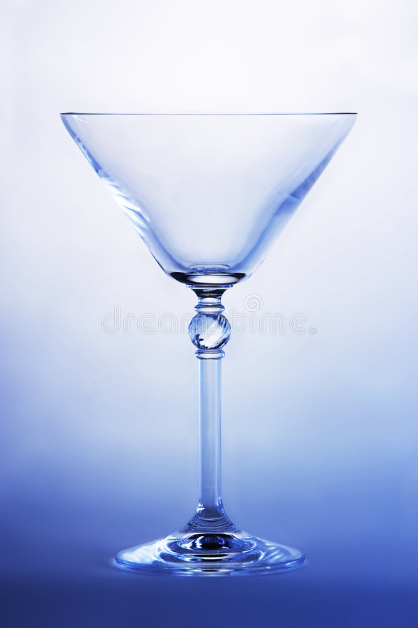 玻璃马蒂尼鸡尾酒 图库摄影