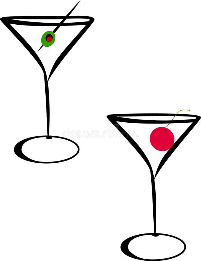 玻璃马蒂尼鸡尾酒 皇族释放例证
