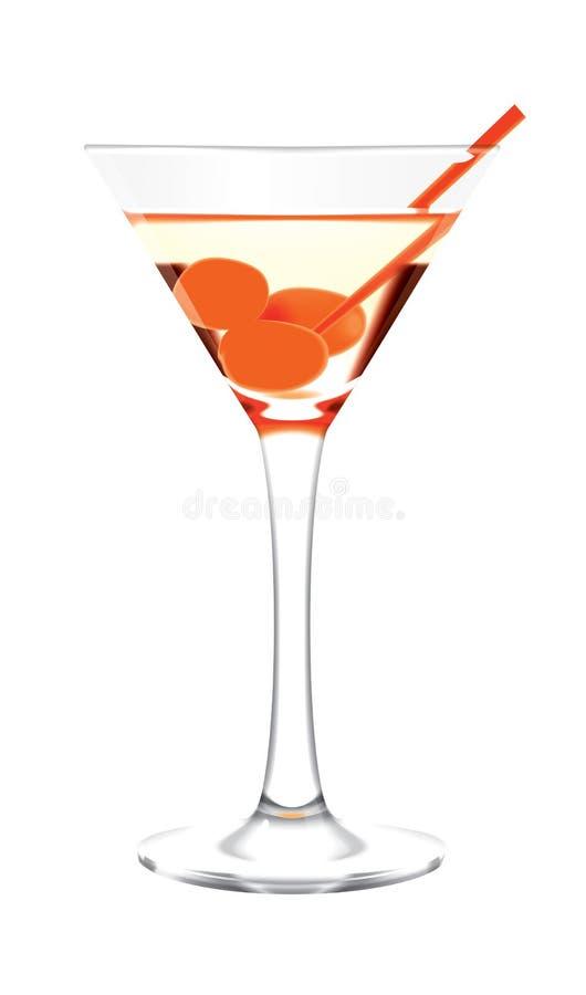 玻璃马蒂尼鸡尾酒 库存例证