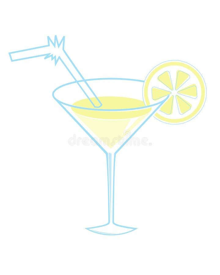 玻璃马蒂尼鸡尾酒 向量例证