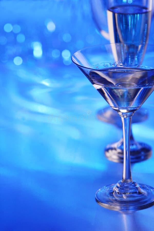 玻璃马蒂尼鸡尾酒 免版税库存照片