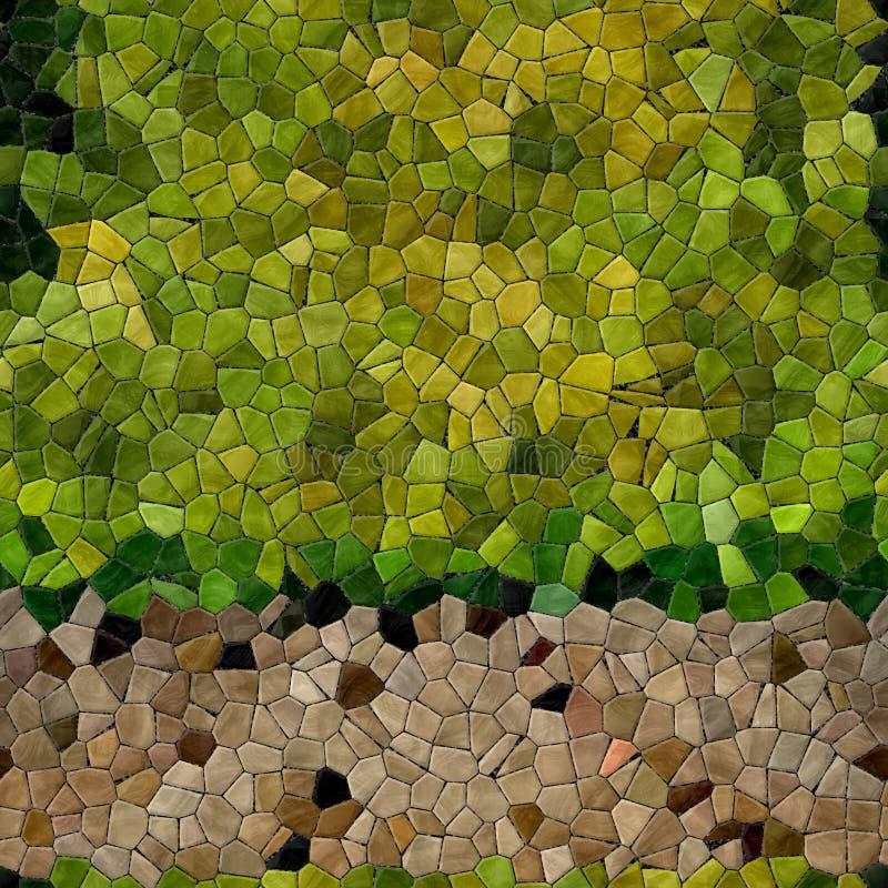 玻璃马赛克万花筒无缝的引起的聘用纹理 免版税库存图片