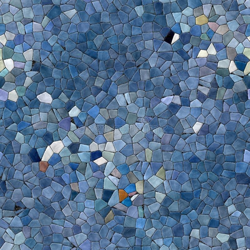玻璃马赛克万花筒无缝的引起的聘用纹理 免版税库存照片