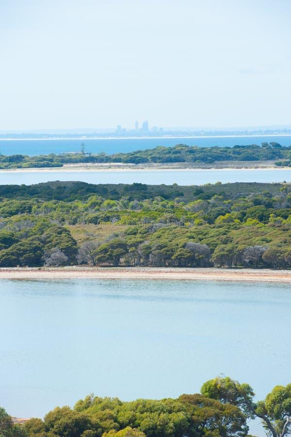 珀斯视图Rottnest海岛 图库摄影