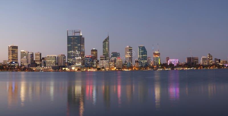 珀斯,澳大利亚全景  免版税图库摄影