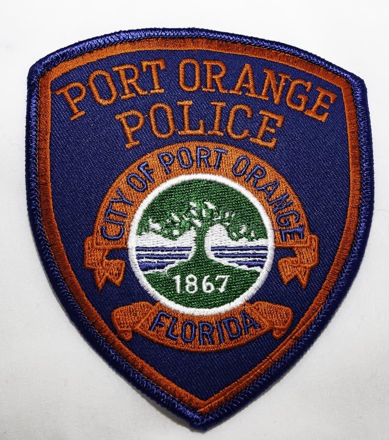 珀特奥兰治警察局的肩章在佛罗里达 库存图片