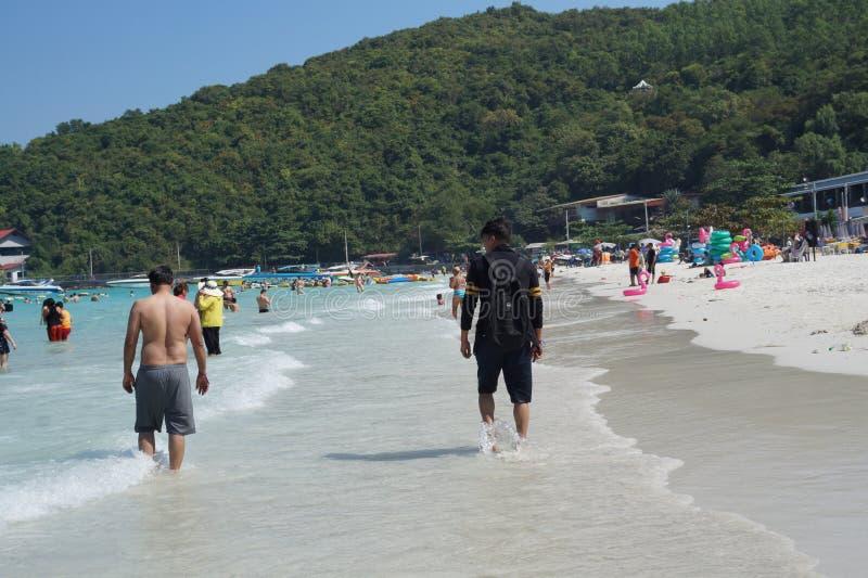珊瑚岛,芭达亚,泰国 免版税库存照片