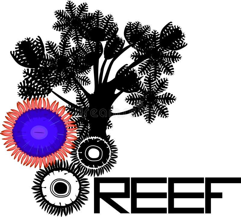 珊瑚抽象背景 库存例证