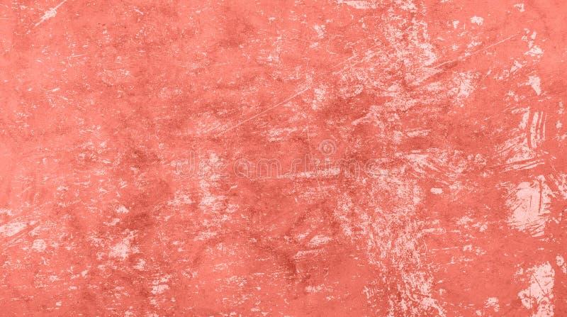 珊瑚桃红色被定调子的抽象难看的东西背景 免版税库存图片
