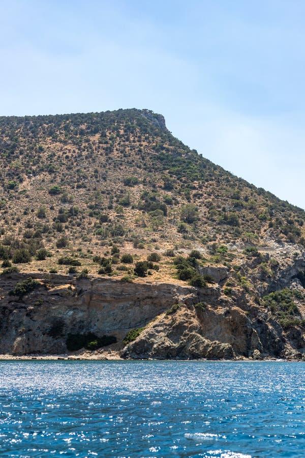珊瑚湾,塞浦路斯海岸线  免版税库存图片