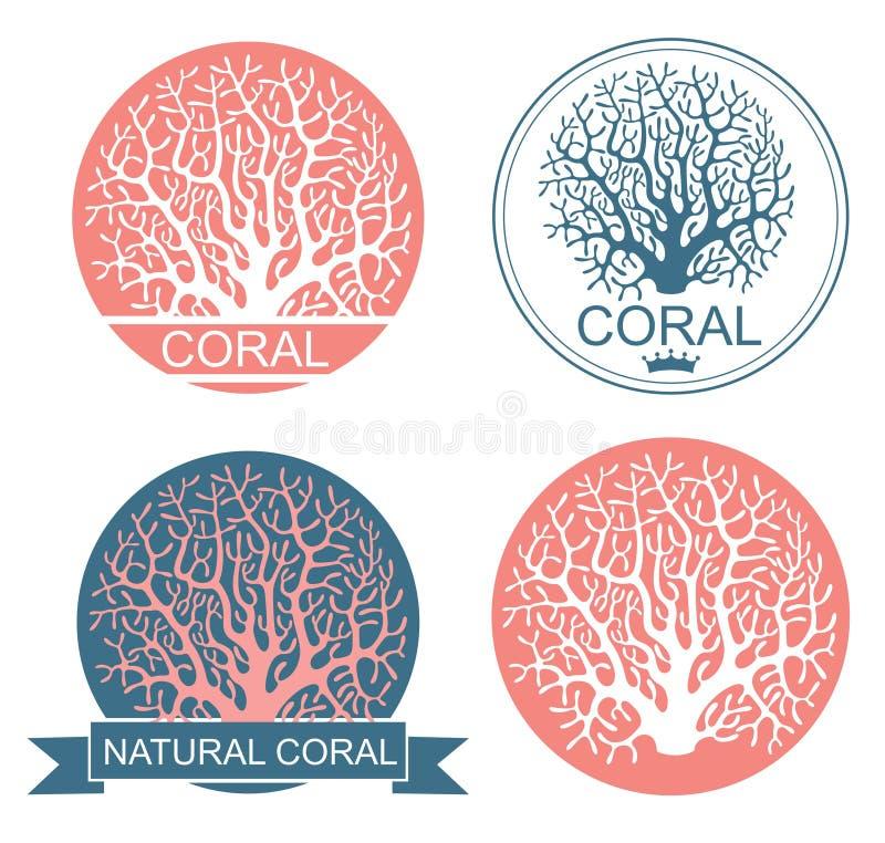 珊瑚 向量例证