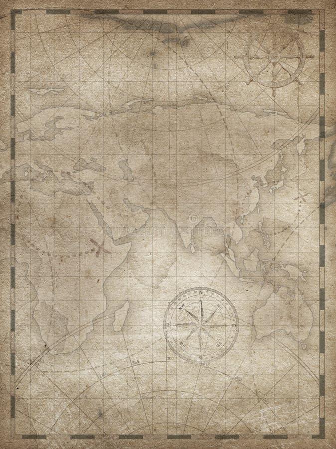 珍宝地图垂直的背景例证 向量例证