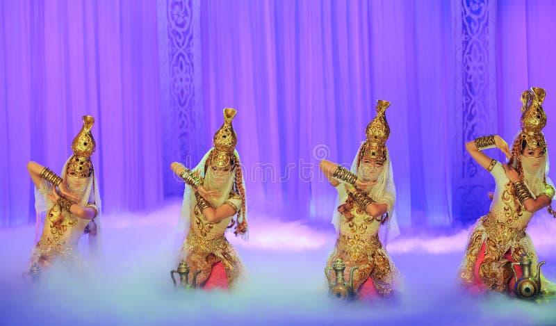 珍宝罐舞蹈惠山在贺兰的芭蕾月亮 图库摄影