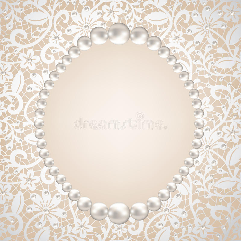 珍珠框架 库存例证