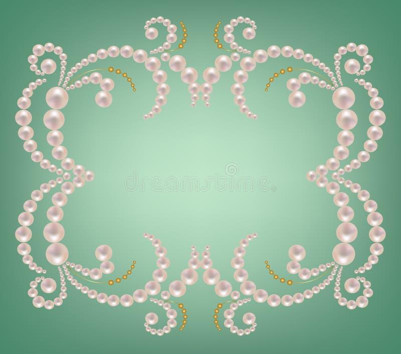 珍珠框架 向量例证