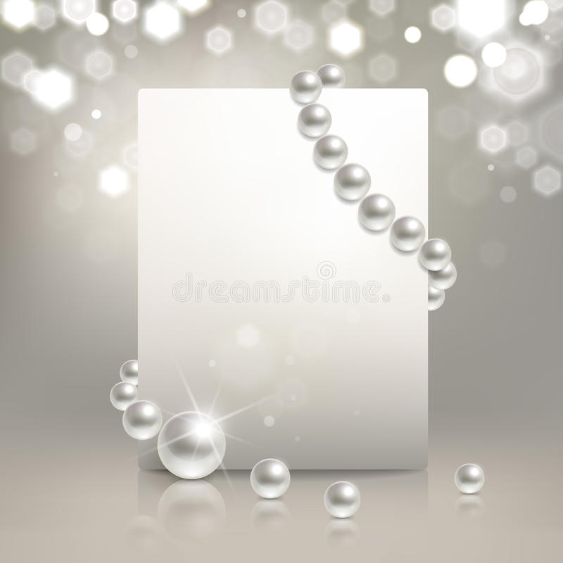 珍珠横幅 库存例证