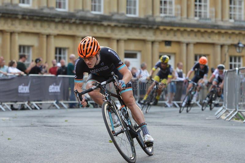 珍珠泉田游览系列自行车比赛决赛在巴恩英国 免版税图库摄影