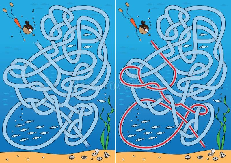 珍珠潜水迷宫 库存例证