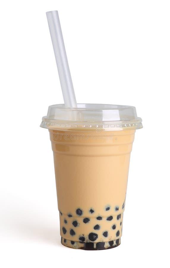珍珠牛奶茶 免版税库存照片